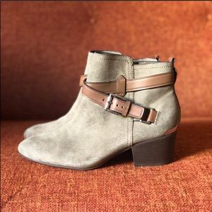 NWOT Coach // Pauline Suede and Leather Boot